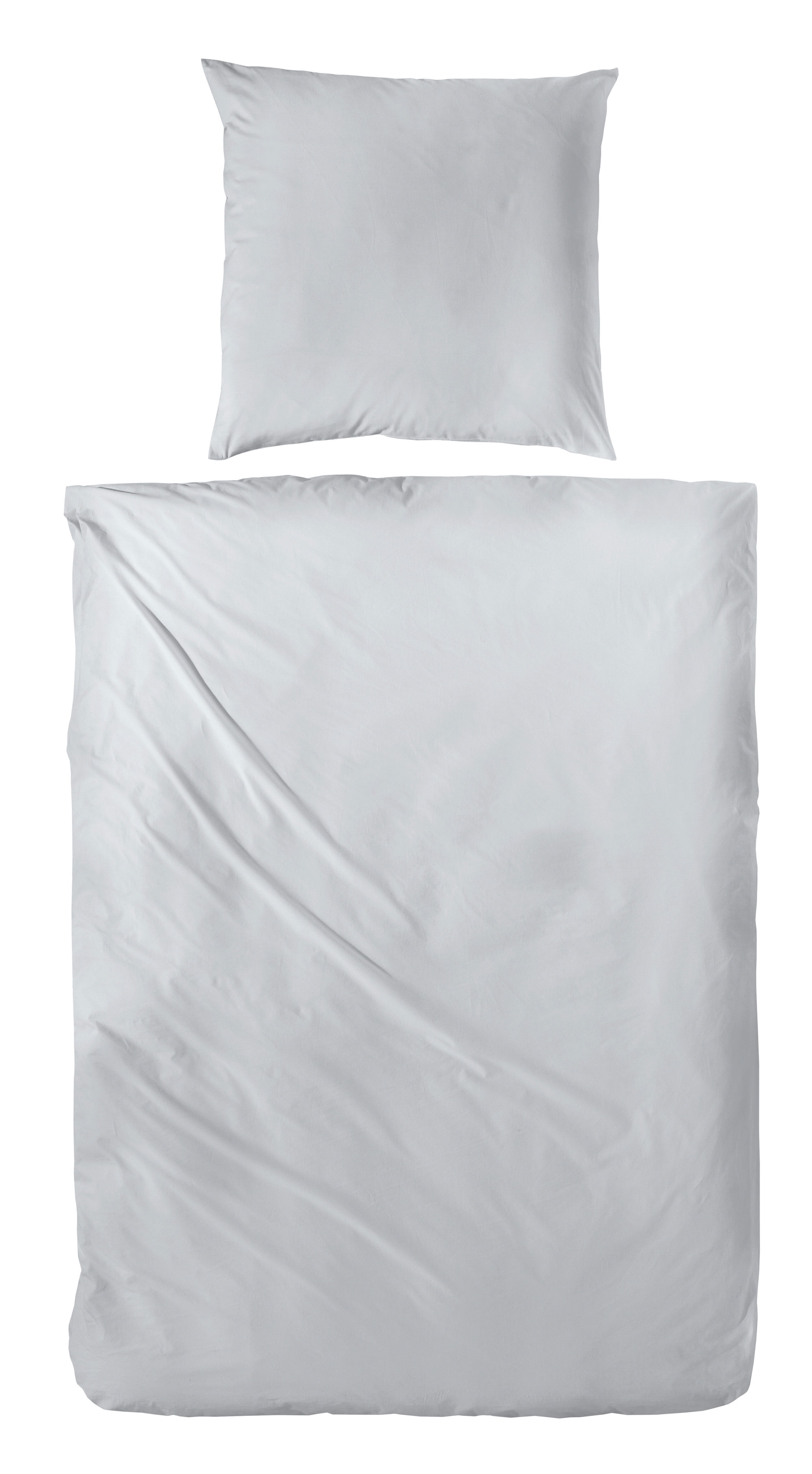 Uni-Baumwoll-Bettwäsche