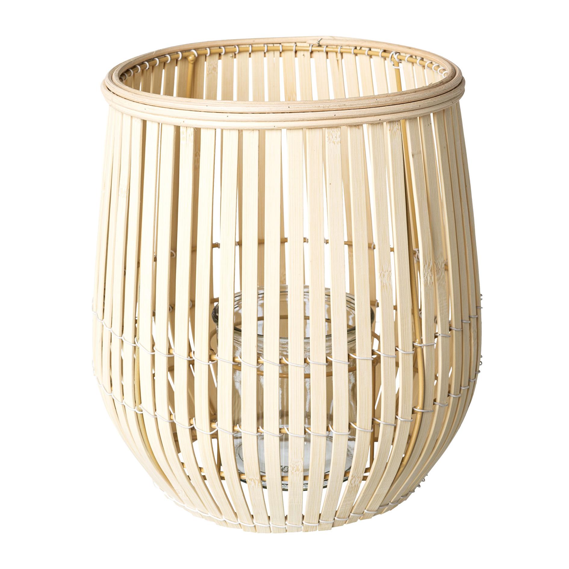 Bambus Windlicht