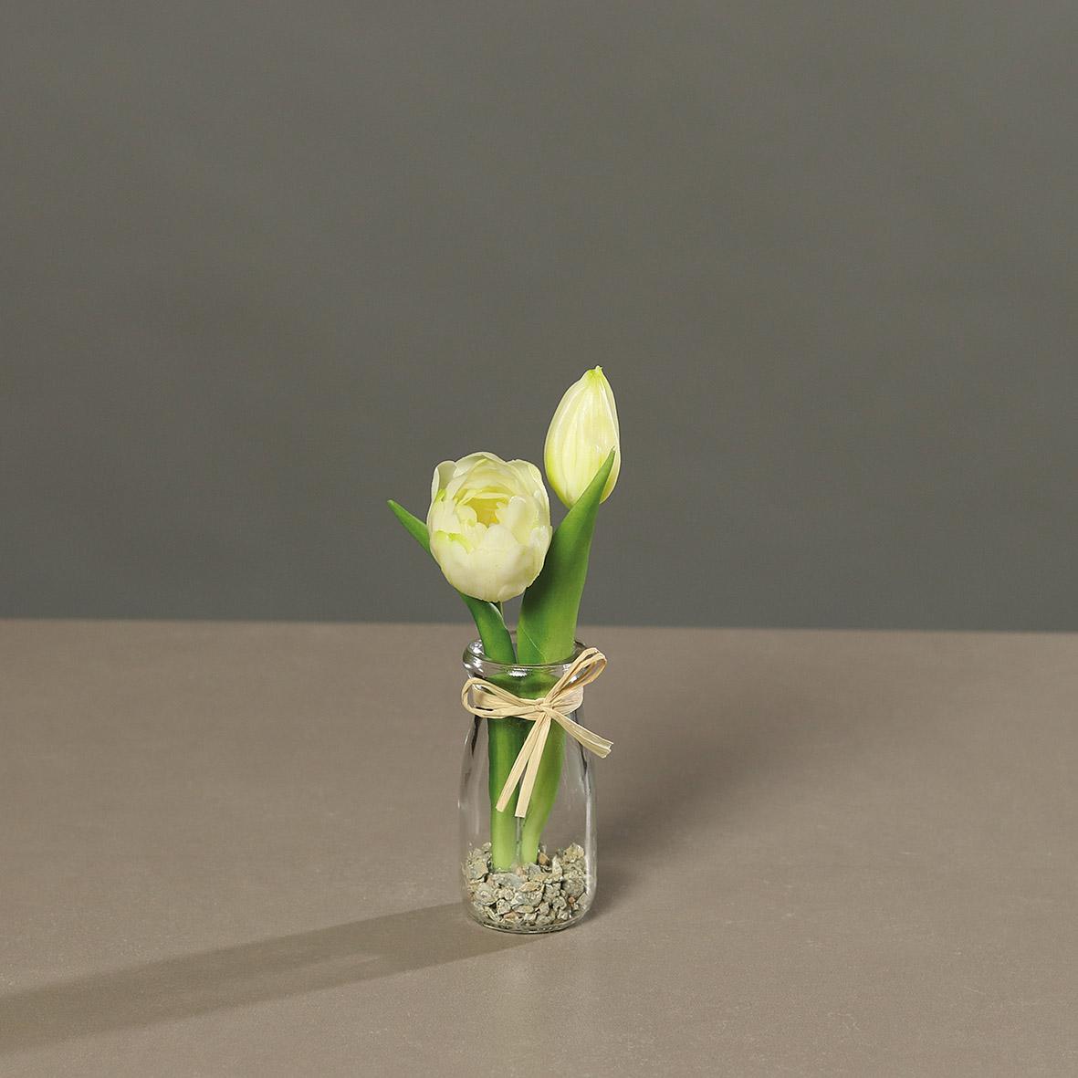 Tulpenarrangement im Glas